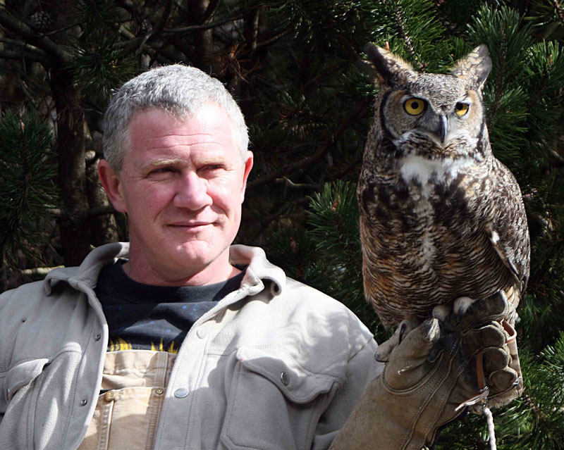Reg with Brinley Great Horned Owl